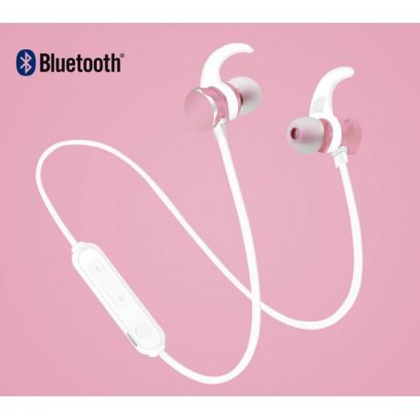 Ecouteurs Bluetooth 4.1 avec télécommande - Rose